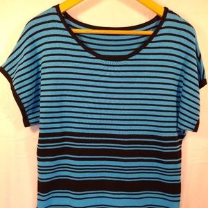 Cable & Gauge short-sleeve sweater
